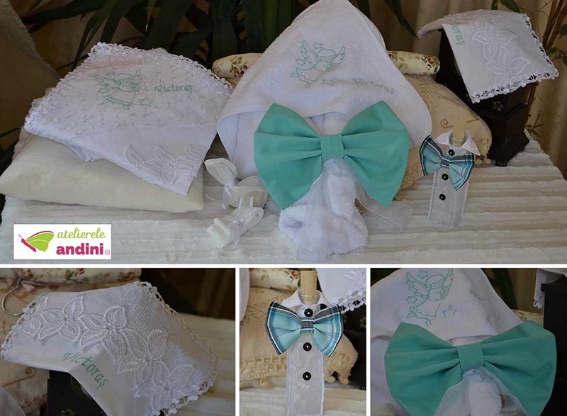 Lumânare Botez Red Bow -1