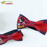 Papion Botez Mickey Blue and Red