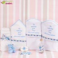 Trusou Botez Panglică Trandafirași - Bleu