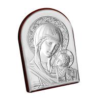 Iconiță pe Foiță de Argint - Maica Domnului cu Pruncul