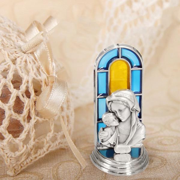 Mărturie Statuetă Argintată – Maica Domnului cu Pruncul